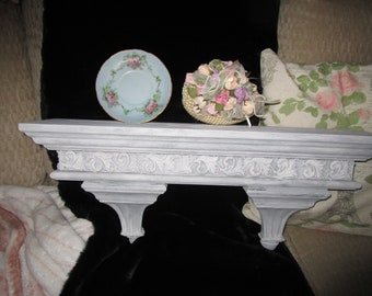 Ornate Shelf, Chalk Paint, Columns, Farmhouse