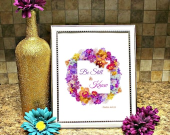 Be Still and Know Printable Wall Art