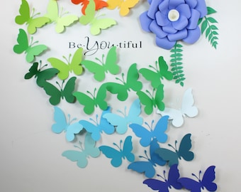 3D Butterfly Wall Art - 3D Wall Butterflies - Paper Wall art - Nursery wall art - 3d Butterflies