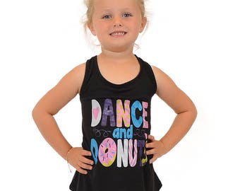Kaysees Girl's DANCE AND DONUTS Relaxed Tank
