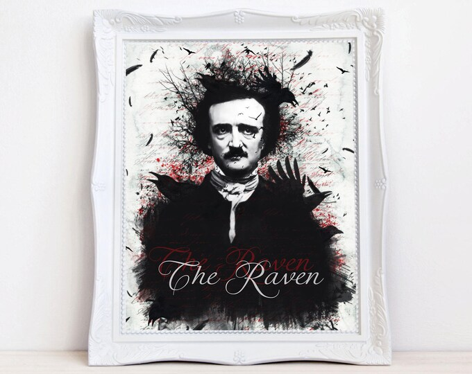Poe The Raven art print by Enchanted Whispers