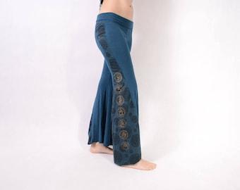 BLUE CHAKRA Leggings - Yoga Pants - Psytrance Leggings - Festival Leggings - Mandala Leggings - Flow Leggings - Bell Leggings - Girls
