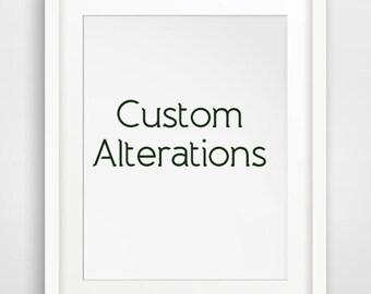 Custom Alternations, Digital Files Only