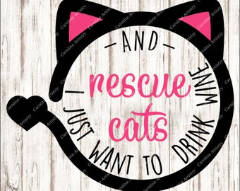 Rescue Cats Decal