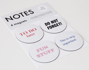 Magnets - Fridge Magnets - To Do - NOTES