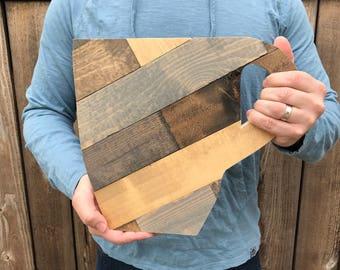 "Rustic Wooden Coffee Mug 12"""