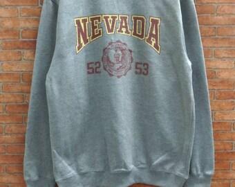 Rare!!Nevada sweatshirt Medium Size