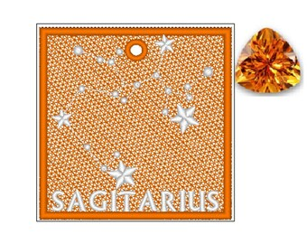 Sagitarius Zodiac FSL Bookmark - Book Lovers Gift - FSL - Embroidery Design - Multiple Formats