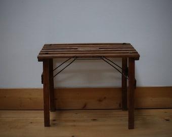 Vintage wooden folding