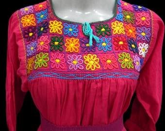 mexican blouse, embroidered blouse, summer blouse, quality,  cotton 100%, fits M/L Q2