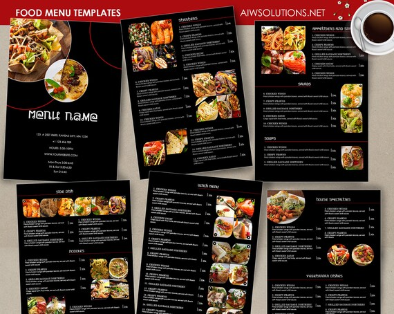 Menü-Vorlage Cocktail-Karte Restaurant Speisekarte