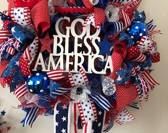 Uncle Sam Patriotic Fourth of July Wreath