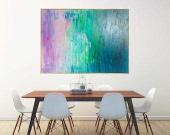 Original, Abstract painting, Wall Art, Large Acrylic Painting on canvas,Acrylic Art,Framed FREE SHIPPING USA