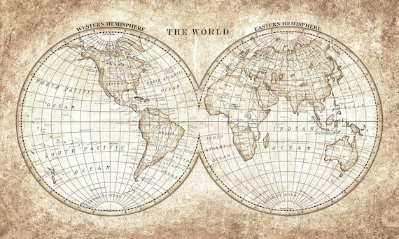 Old world map vintage hand painted for printing and clip art gumiabroncs Images