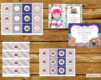 Gingerbread House Birthday Party Package   Gingerbread House Birthday Invitation   Gingerbread House Party   Party Decorations