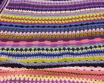 Handmade crochet throw