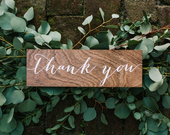 thank you Sign, wedding thank you sign, wood thank you sign, wood wedding thank you sign, Wooden Wedding Signs, Wood