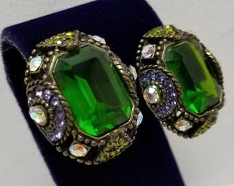 Colorful Faux Gem Earrings