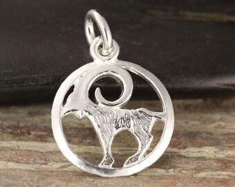 Capricorn zodiac pendant in sterling silver - Capricorn necklace, zodiac necklace, zodiac jewelry, astrology