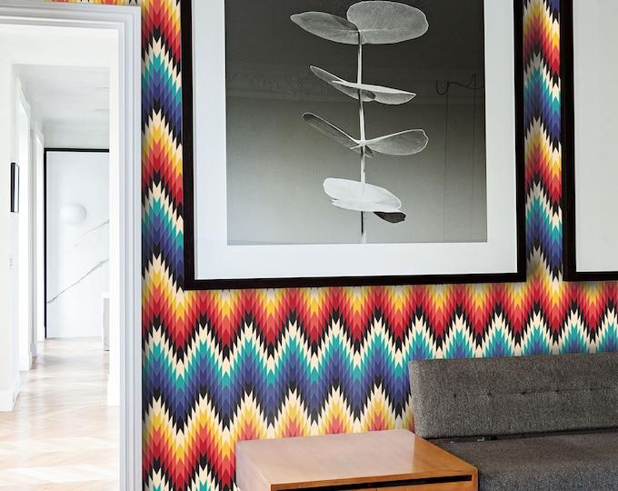 Kitchen Decor, Bedroom Decor, Kitchen Wall Decor, Bedroom Wall Decor, Home Decor, Rustic Home Decor, Aztec Wallpaper, Geometric Wallpaper