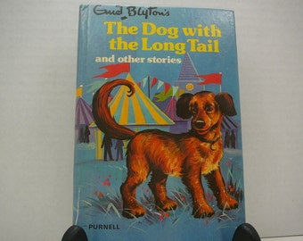 The Dog with the Long Tail and Other Stories, 1975, Enid Blyton, vintage dog book, vintage kids book