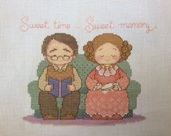 Cross stitches sweet time sweet memory