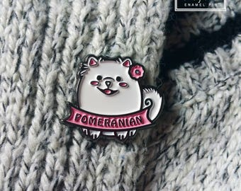 Pomeranian Enamel Pin