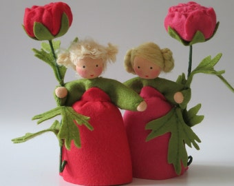 Buttercup - Ranunculus- Flower doll - Nature table - Waldorf