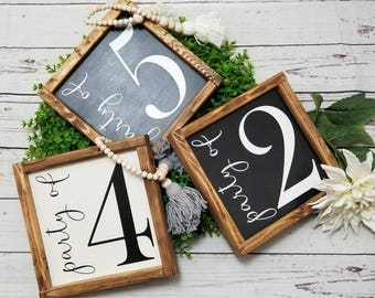 Party Of family sign, Family number sign, wood number sign, Family Size Sign, Farmhouse style Number Sign, Gallery Wall Sign, Party of sign
