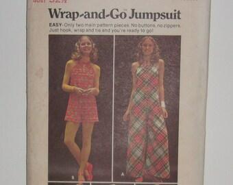 Vintage 1970's Butterick Wrap And Go Jumpsuit Pattern #6716 Size 10 Cut