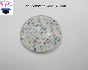 1 cabochon clear 18 mm theme fabrics