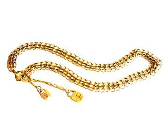 KARL LAGERFELD ~ Authentic Vintage Long Necklace Sautoir - Padlock Keyhole Lock - KL