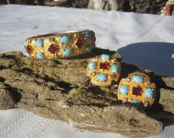 Hattie Carnegie Bracelet and Earring Set