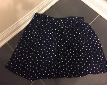 Retro polka dot skirt knee length size small