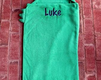 Crocodile Hooded Towel~Personalized Hooded Towel~Embroidered Hooded Towel~Pool Towel~Beach Towel~Kids Towel