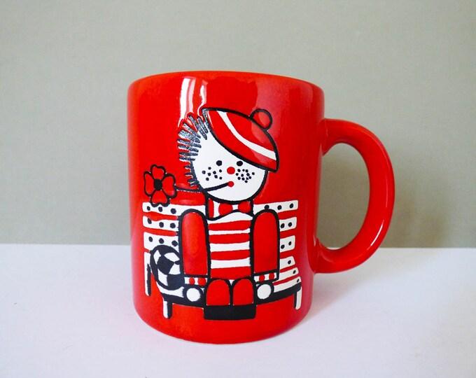 Waechtersbach Mug Rag Doll boy design Vintage