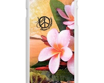 iPhone 6s/6, iPhone 6s/6 Plus Case, ISLAND STYLE, iPhone 6s, iPhone 6s Plus, Hawaii, Plumeria, Wave, Avail. with Black or White case color