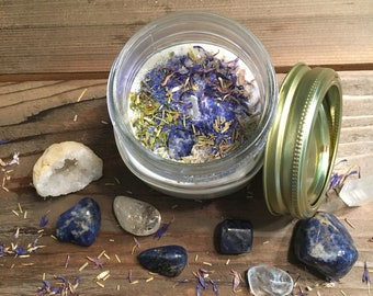 Fresh Start All Natural Aromatherapy Apothecary Crystal Soy Candle Throat Chakra
