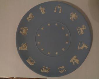 Wedgwood Blue Jasperware Zodiac Collector Plate