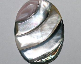 MOP Oval Pendant 50x40mm Mother Of pearl Wholesale