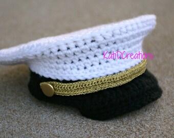 FREE Pattern, 1-2years, Military Hat, Military Dress Hat, Dress Cap, Dress Whites, PDF, Baby Militay Hat, Photo Prop, Police Hat PDF