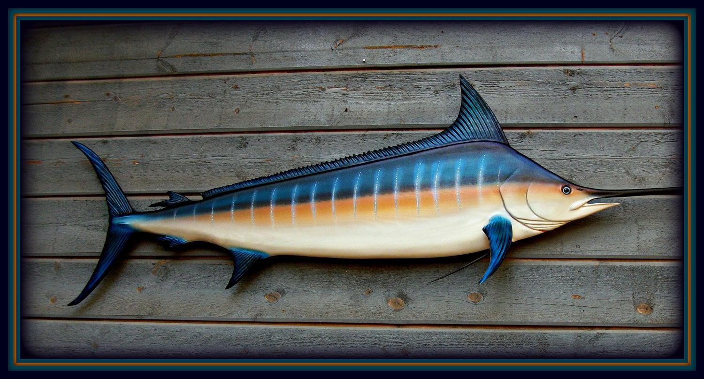 Blue Marlin 69 Art Sculpture Fish Wood Carving