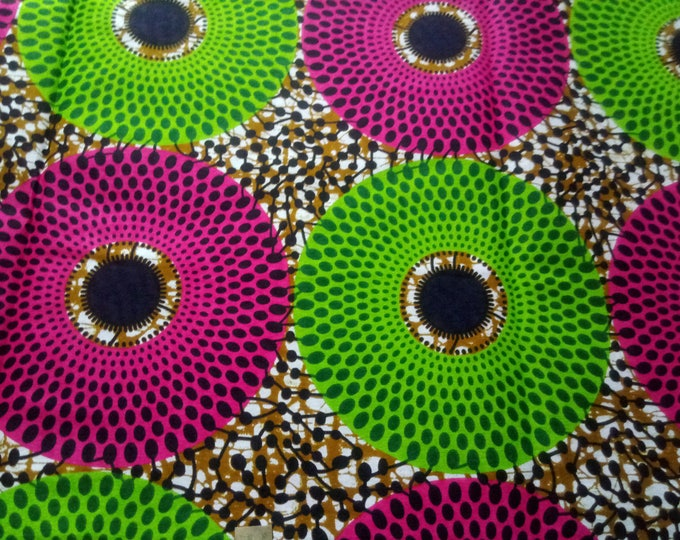 African Fabrics Cotton Fabric Sewing Fabrics /Fabrics For Craft Making Dresses Shirts Skirts /Suitable For Men and Women Sold By Yard