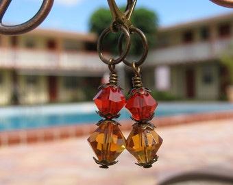 Orange and Yellow  Autumn Festive Earrings