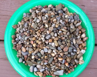 Pea Gravel Warm Neutral colors (5) pound bag - washed and sun dried