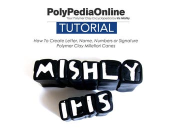 Polymer Clay Tutorial, Polymer clay, Name Millefiori Cane Tutorial, Polymer Clay Bead, Fimo, DIY Polymer, Polymer Clay Cane, PDF Tutorial