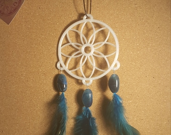 Dreamcatcher, Glow in the dark, 3D printed, Blue dreamcatcher, wall hanging