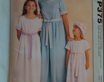 McCalls Stitch n Save P375, dresses, adults, childrens, pullover style, UNCUT sewing pattern, craft supplies