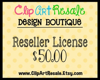 Reseller License  - One time fee to resell our graphics!  BONUS 20.00 worth of FREE clip art!