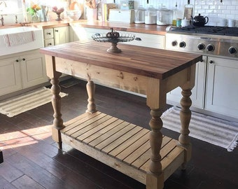 Popular Items For Butcher Block Island